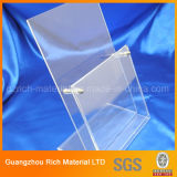 Banco di mostra acrilico libero personalizzato/banco di mostra di plastica plexiglass di mostra