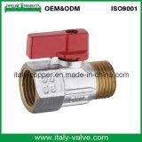 Válvula de bola Mini FM forjado de latón cromado (AV-MI-2009)