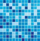 Mezclar baño azul del mosaico, Piscina Mosaico, Mosaico de vidrio (H420034)