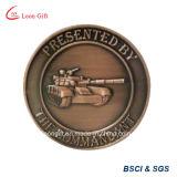 Venta al por mayor de bronce roja de la moneda del recuerdo de la aleación del cinc