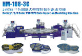 Maquina Rotativa De Tres Colores PARA Suelas/Plantas De TPR/PVC/Tr/TPU