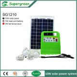 kit solar para la iluminación de carga, computadora portátil del panel portable 10W