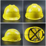 HDPE物質的なVのタイプシェルの安全ヘルメット(SH504)