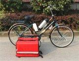 Elektrisches Fahrrad mit Kasten für Raum