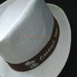 Printed Logo를 가진 주문 Fedora Style Paper Straw Hat