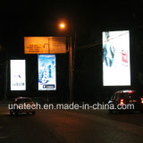 Diodo emissor de luz ao ar livre Scroller do frame de caixa do poster da campanha publicitária nos meios de comunicação