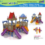 Petit matériel en plastique de jeu de glissière de cour de jeu d'enfants (HD-W-483-9)
