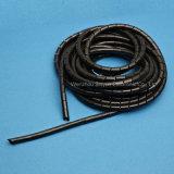 バンドWhite&螺線形の包む黒いカラー(PE)