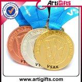 La promozione personalizzata mette in mostra la medaglia del metallo