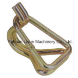 50mm x 5000kg Wire Hook W/Keeper для Cargo Safety Control Ratchet Strap /Ratchet Tie Down/Lashing Strap