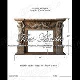 Marmeren Rand mfp-614 van de Open haard van Carrara van het Graniet van de Steen Witte