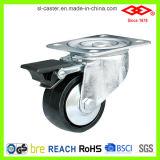 黒いプラスチック脂肪タイプ足車(D105-30C075X32)