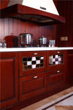 水晶Benchtop最新のデザイン台所食器棚
