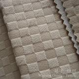 Polyester 100% gravé en relief de configuration de réseau de velours pour des couvertures de sofa