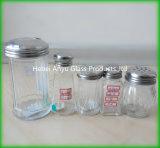 Bouteille de vinaigrette avec la bouteille en verre de condiment de traitement