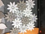 Gris Madera Mármol Blanco mosaico de la flor de la decoración de interiores Paredes