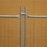 Construção resistente cerca provisória usada do engranzamento de fio da segurança