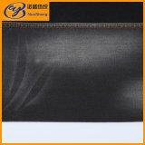 Denim nero del ringrosso dello Spandex del poliestere del cotone di colore in tessuto di raso