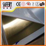 Feuille de finition d'acier inoxydable de surface de miroir du Ba 8K avec le PVC enduit