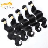 工場価格ペルーボディ波の自然なバージンの毛のよこ糸
