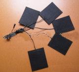 1 a 3 elementos de aquecimento para veste Heated, roupa Heated da fibra do carbono, solução Heated dos produtos da melhor bateria (GH-003)