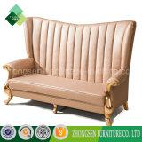 Rey real Throne Sofa del cuero del sofá de la parte posterior del colmo del estilo europeo