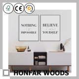 Applique d'art murale avec du bois encadrée pour un décor de salon / salon