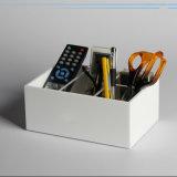 Weiße Acrylfeder/Pencile Briefpapier-organisierender Kasten