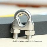 Clips de câble métallique de l'acier inoxydable DIN 741 pour le raccordement