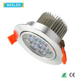 Blanco caliente de plata especular LED Downlight de RoHS 7W Dimmable del Ce