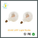 G150 E40 cromo LED de plata del filamento luz de la decoración