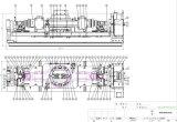 Fabricação do dispositivo elétrico da máquina-instrumento e eixo Workholding hidráulico do eixo quatro