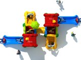 Используемое коммерчески скольжение занятности оборудования спортивной площадки для детей (fairy серии -08)
