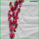 Flores falsas del flor del melocotón de las flores artificiales para la decoración casera de la boda