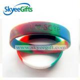 Kundenspezifisches Firmenzeichen gedruckte fördernde Silikon-GummiWristbands