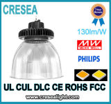 Indicatore luminoso della baia dell'UL 150W LED del UFO di Dimmable delle stazioni di servizio alto per il rimontaggio di HPS NASCOSTO 300W