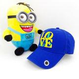 Borda personalizada bordada em 3D com chapéu de moda em forma de metal
