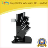 Supports acryliques de couteau de noir de support de couteau de qualité