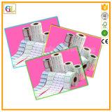 La insignia imprimió escrituras de la etiqueta de papel de encargo adhesivas de la impresión de las etiquetas engomadas