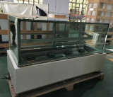 Refrigerador do Showcase do bolo do ângulo direito de estilo japonês/refrigerador de vidro do indicador (R750V-M2)