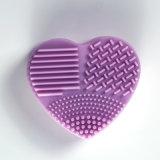 Oeuf de lavage de lavage d'oeufs de balai de silicones d'épurateur d'arc-en-ciel de forme de coeur bel