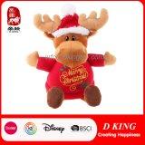 Stuk speelgoed van uitstekende kwaliteit van het Rendier van de Pluche van Kerstmis het Gift Gevulde