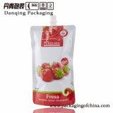 Danqing прокатало полиэтиленовый пакет с упаковывать Spout и крышки