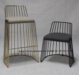 レプリカの金属のレストランの屋外の家具は椅子を食事するワイヤーをひもでつなぐ