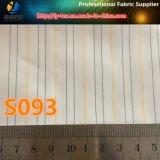 Tela teñida de la guarnición de la raya de los hilados de polyester para la guarnición del juego de los hombres (S93.95)