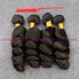 8A等級の緩い波のよこ糸、インドの毛の拡張8 - 30インチの加工されていないバージンの