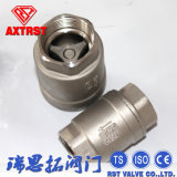 H12 Ss Hard Metal Screwed End Vertical Check Valve