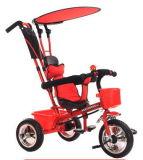 En71 Approved 3-1 triciclo de crianças do triciclo do impulso dos miúdos do triciclo do bebê com plástico Wheel