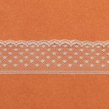 Lacet simple dans le lacet couleur/100% de tissu de polyester/garniture blancs de lacet