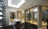 Стеклянная перегородка, стеклянная стена, стеклянный рассекатель для офиса, гостиницы, трактира